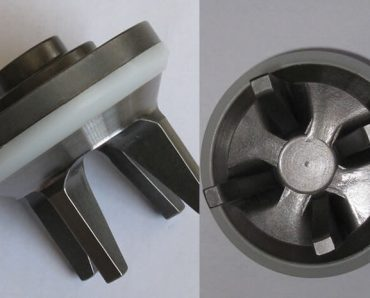 GD style valve and seat assembly with bonded insert