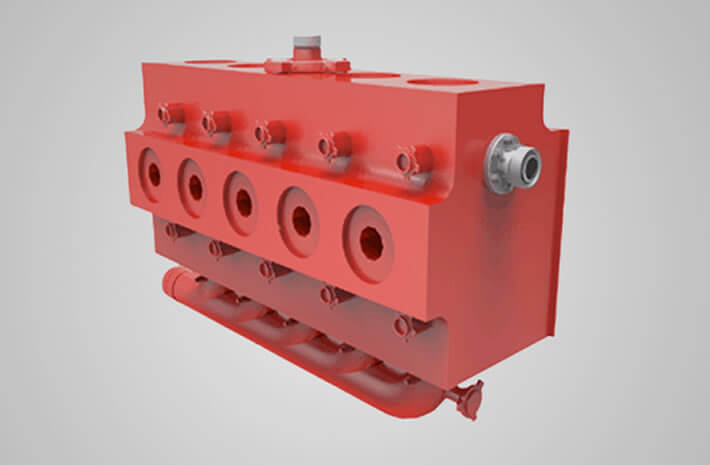 FMC WQ2700 fluid end assembly