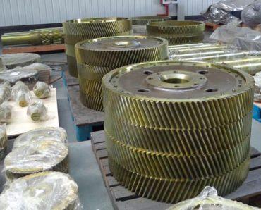 Frac pump bull gears and pinion shafts