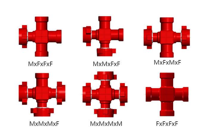 Integral fittings Crosses