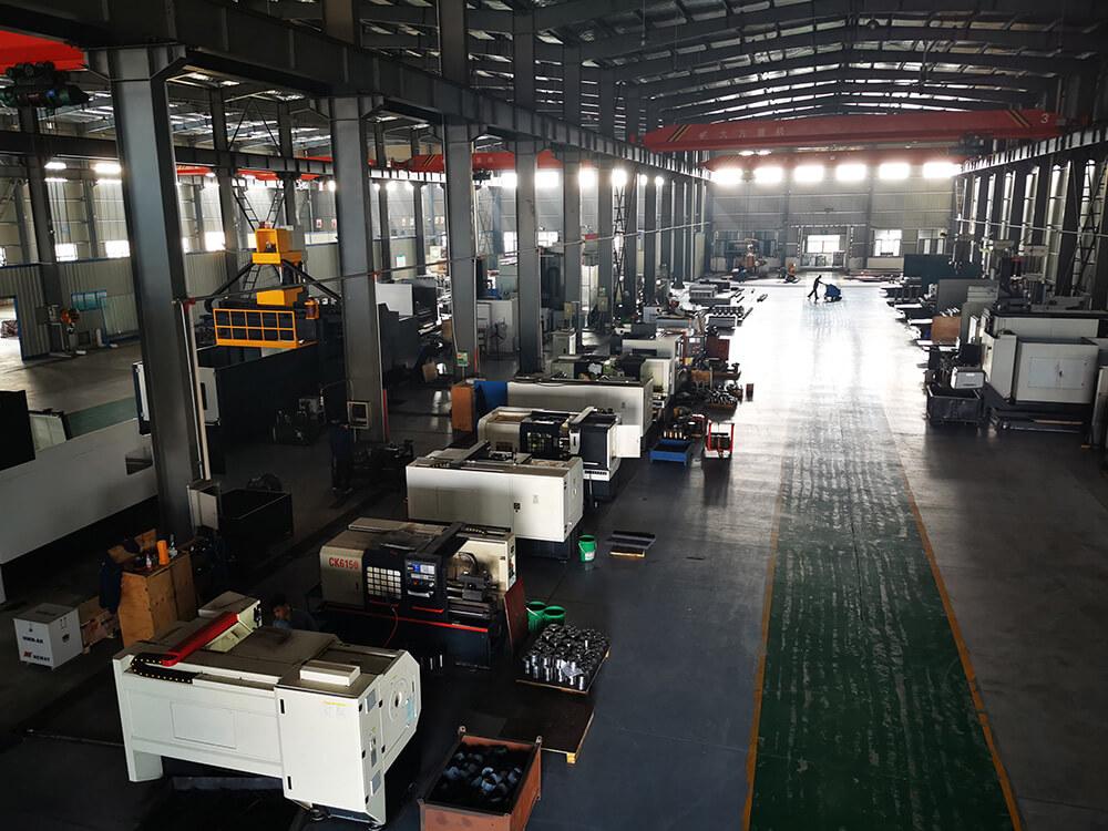 Frac pump parts machining workshop