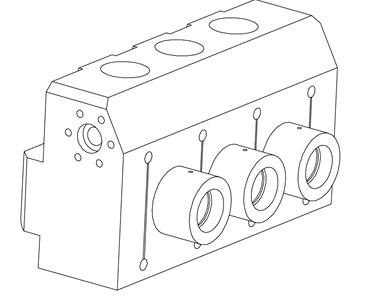 FMC 2400HP three plunger fluid end